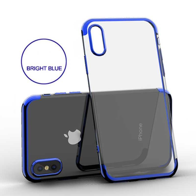 التدرج سيليكون لينة الهاتف حقيبة لهاتف أي فون 7 8 Plus X XR XS Max 6 6s 5 5s SE conque لينة من البولي يوريثان ل iPhone X جراب هاتف