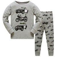 Новые детские пижамные комплекты одежда для сна с героями мультфильмов для мальчиков и девочек детская футболка с длинными рукавами + штаны...