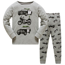 Cotton Vehicle Printed Pajamas for Boys and Girls  2 pcs Set