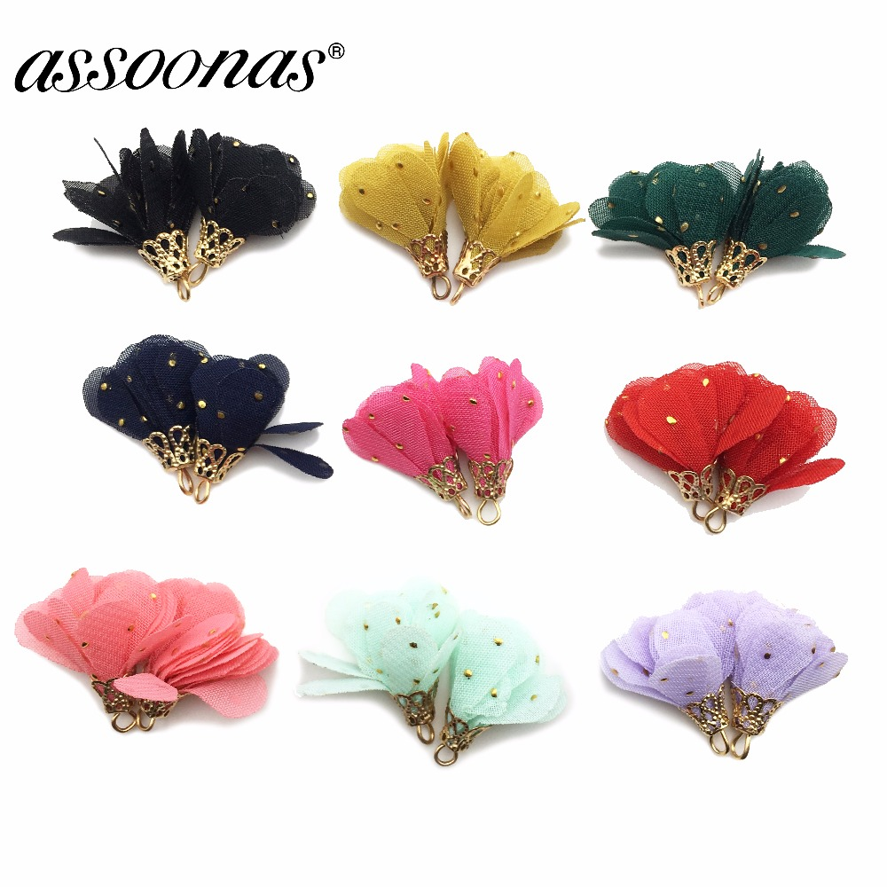 Assoonas L174,tassels,fabric Tassel,jewelry Accessories,accessories Parts,flower Pendant,jewelry Making,hand Made,diy Earrings