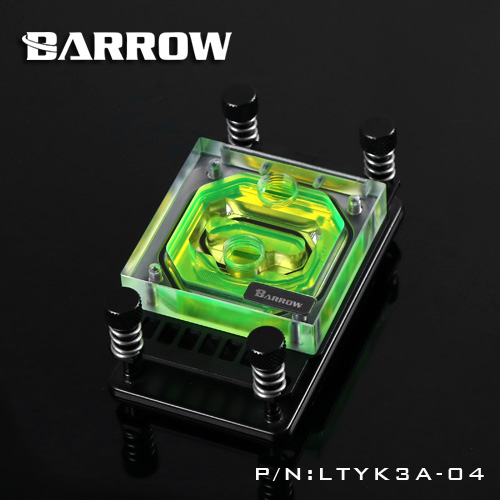 Barrow CPU Block use for AMD RYZEN AM3 AM3+ AM4 Acrylic + Copper Radiator Block + RGB Light