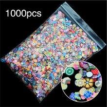1000 unidades/pacote diy 3mm 3d frutas flores design de penas pequenas fatias de argila polímero diy meninas brinquedos adesivos meninas presentes