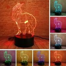3D LED Hologram – Romantické nočné svetlo – LOVE Heart – Princess – Unicorn – Ferris Wheel – Rose