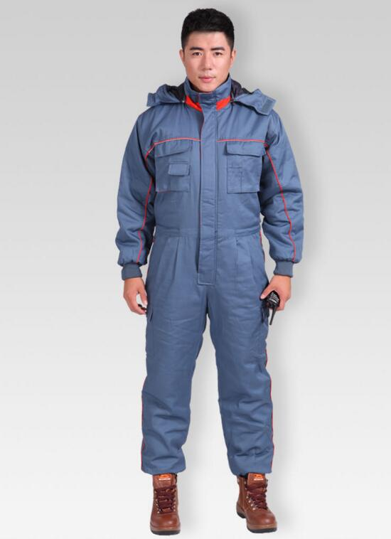 Factory Safety Working Clothes Construction Work Clothes Industrial Workwear Winter Cotton Jacket Jumpsuit Sets, Free Shipping factory workman safety clothing thicken warm windproof cotton jumpsuit sets free shipping
