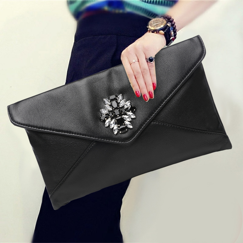 2018 Korean Style Fashion Women Clutch Wallet Genuine Leather Diamond Top Leather Banquet Big Purse Shoulder Crossbody Bags Gift2018 Korean Style Fashion Women Clutch Wallet Genuine Leather Diamond Top Leather Banquet Big Purse Shoulder Crossbody Bags Gift
