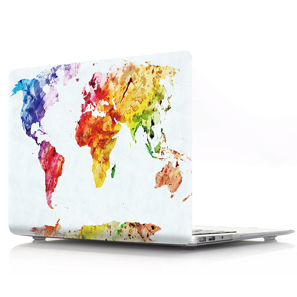 New For Macbook Air Pro Retina 11 12 13 15 Cover Hard PVC Color World Map A1466 Hard PC Coque for Macbook Pro 13 A1989 2018 Case (12)