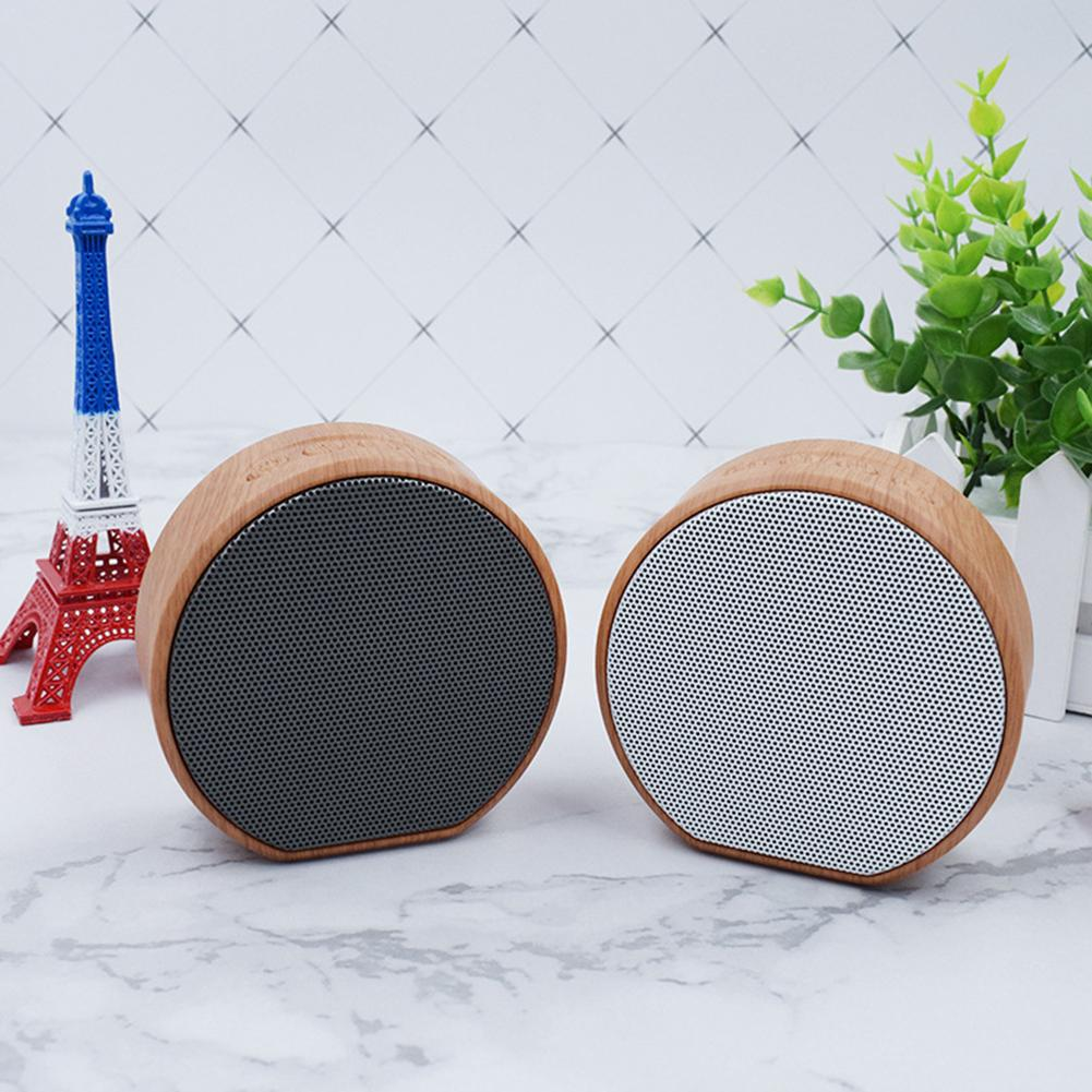 Retro wood bluetooth speaker portable outdoor wireless mini computer bluetooth sound box support aux tf card