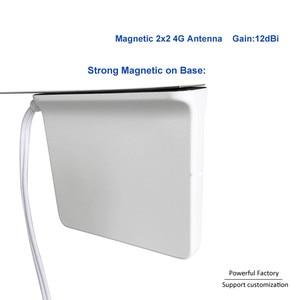 Image 5 - 698 2700 Mhz Omni kapalı Manyetik Baz lte wifi Beyaz 2x2 Mimo Anten 4G