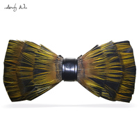Fashion Vintage Women Feather Bow Tie Female Diy Bowtie Man Wedding Handmade Neckwear Male Mariage Designer Papillon Necktie