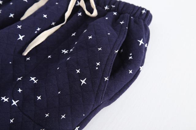 Men's Star Pattern Warm Pajama Pants