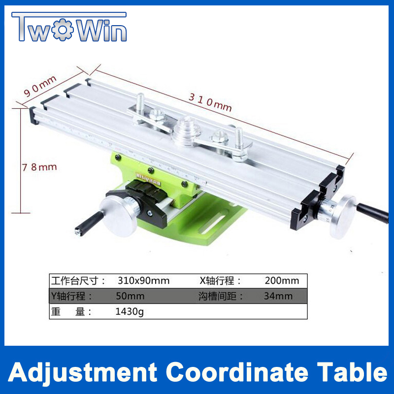 Big Sale Precision Multifunction Milling Machine Bench Drill Vise Fixture Worktable X Y-axis Adjustment Coordinate Table