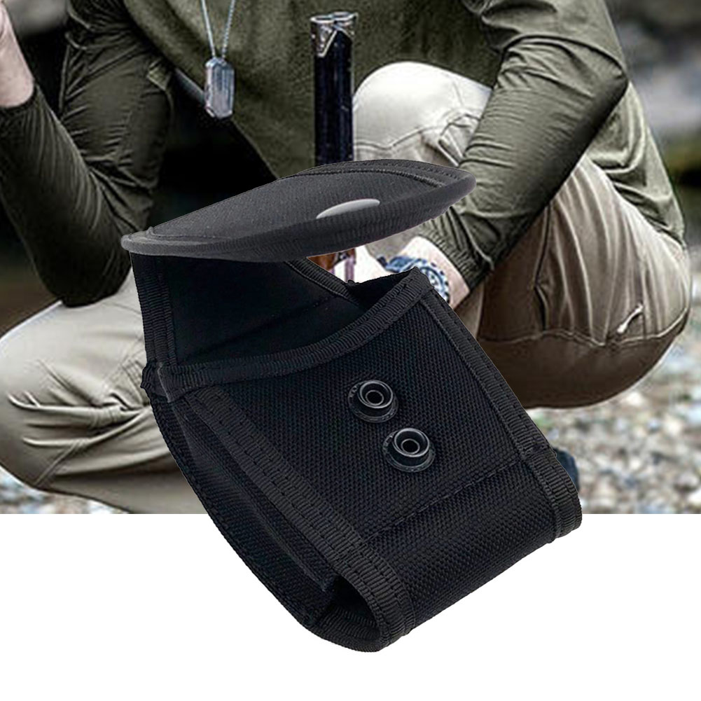 Wear Resistant Pouch Holster Lightweight Practical Waist Bag Portable Outdoor Nylon Sports Handcuff Holder Tactical Snap Button