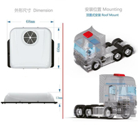 Tamiya actros truck upgrade accessories roof simulate air conditioning for tamiya 1/14 rc tractor trailer MAN BENZ SCANIA KING