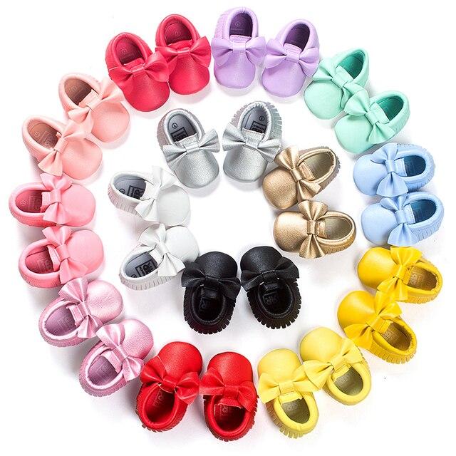 Baby Crib Kids Girls Shoes Items Polo Botinhas De Menina Toddler Moccasins Baby Shoes Newborn First Walkers Footwear 703065