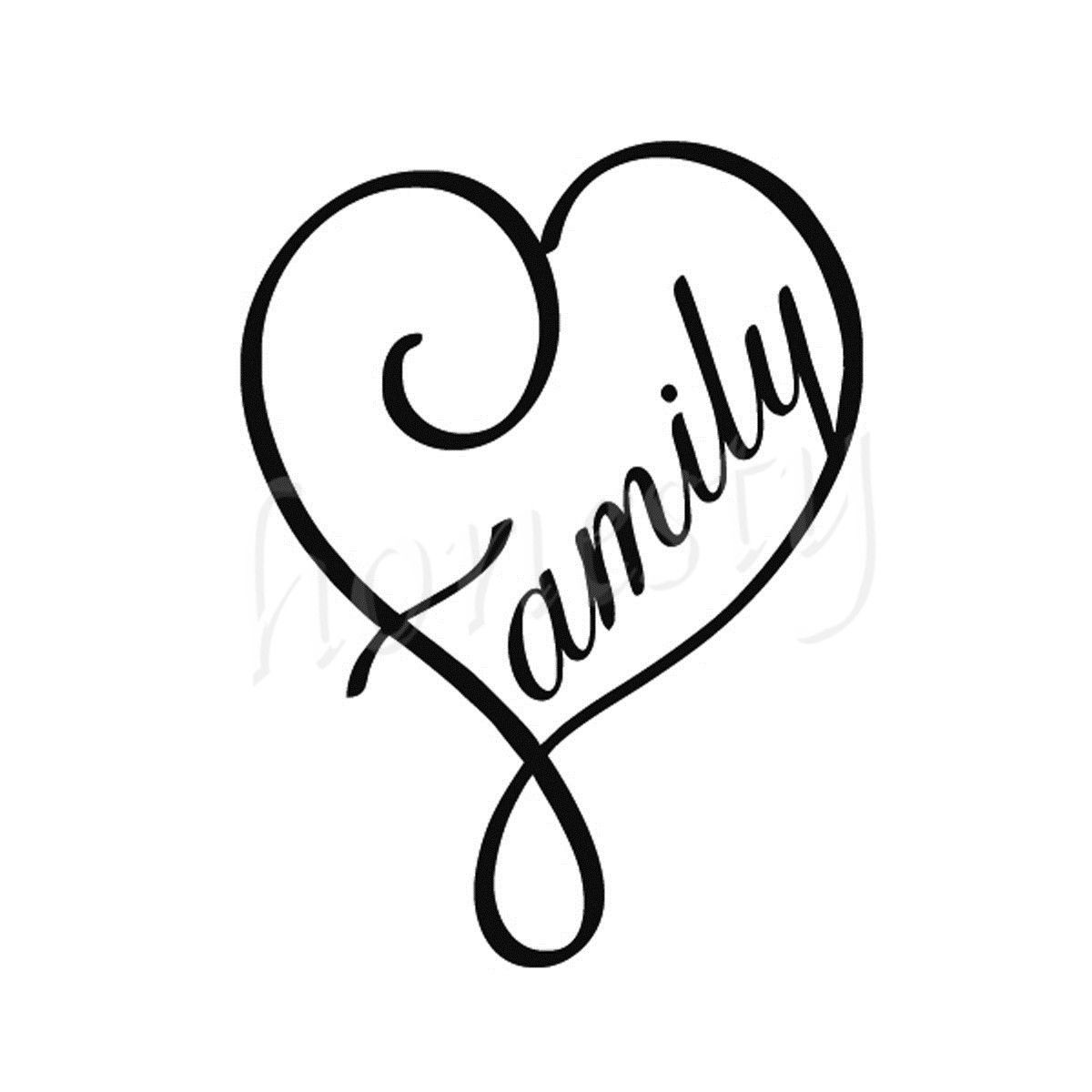 Love My Family Wall Home Glass Window Door Car Sticker