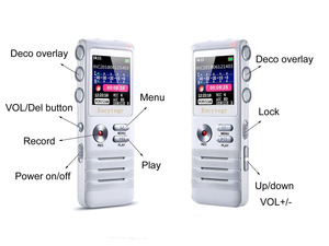 Image 2 - Escytegr 16GB Colorful Screen Voice Activated Recorder 1536KBPS Recording Digital Voice Recorder MP3 Music Player Dictaphone