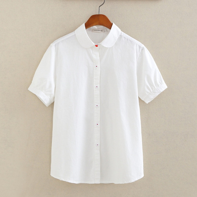 White Blouse Short Sleeve Photo Album - The Best Fashion Style