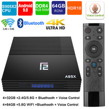 TV Box A95XF2 4G 32GB 64GB Android 9.0 tv box 2.4/5.0G WiFi Bluetooth 4.2 commande vocale Amlogic S905X2 smart box tv box android(China)