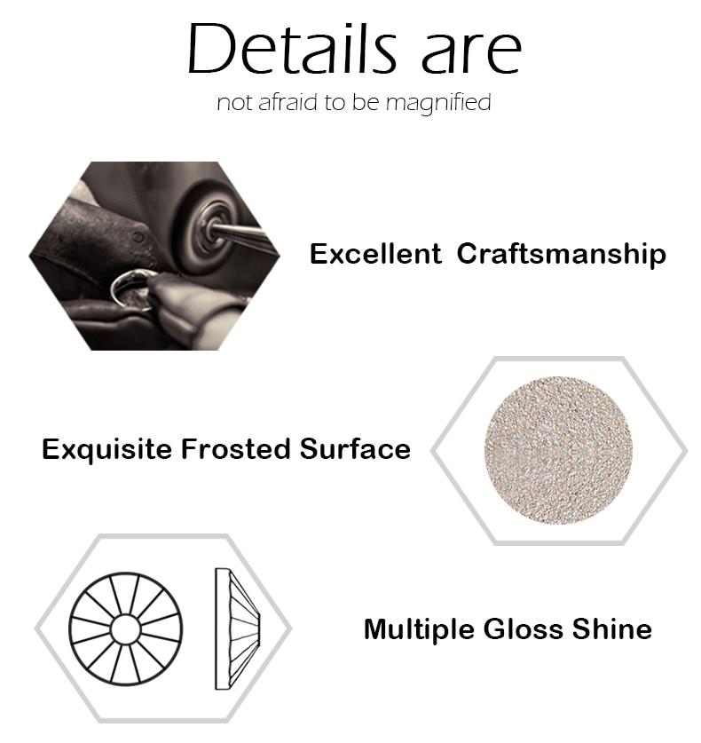 2058NoHF Black Diamond Stones Wszystkie rozmiary Koło koraliki Nail - Sztuka zdobienia paznokci - Zdjęcie 5