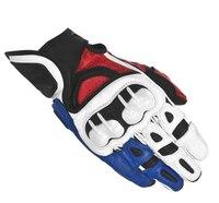 Alpine Men Leather Motorcycle Gloves Moto Gp Road Racing Glove Stars Full Finger Cycling Racing Motocross Luvas