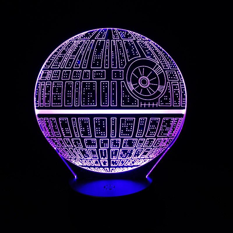 Heißer Verkauf Gute Auf Lager Film Star Wars 3D USB LED lampe Astro Todesstern Bunte Kugelbirne Lava Atmosphäre Nachtlichter beleuchtung