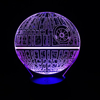 Hot Sale Movie Star Wars 3D USB LED Lamp Wars Force Awakens Death Star Colorful Ball