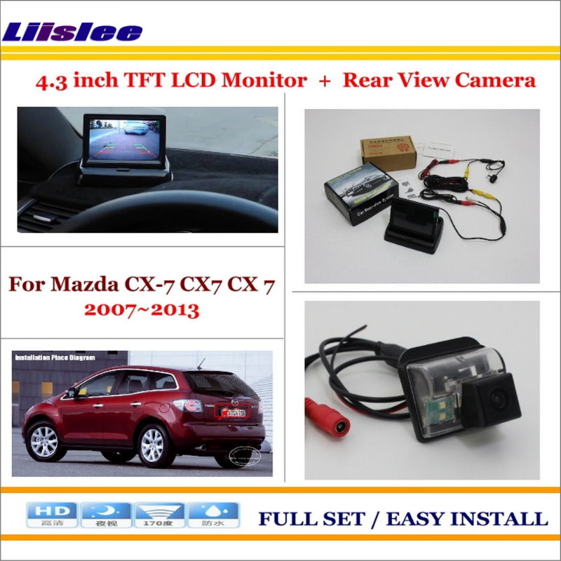 Liislee For Mazda CX-7 CX7 CX 7 2007~2013 Car Reverse Rear Camera + 4.3
