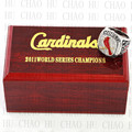 Replica 2011 St. Louis Cardinals World Series Championship Ring Baseball Rings With High Quality Wooden Box Best Gift LUKENI