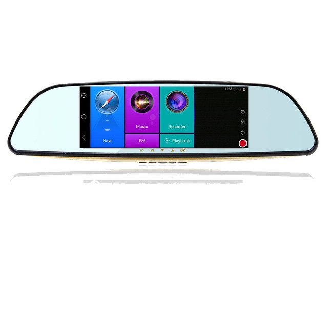 Camera Rearview mirror 7 inch Full HD 1080P WIFI FM  Dual Lens ROM 16GBSpecial Android 4.4 Car DVR