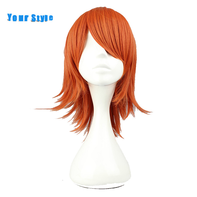 Your Style Short Wig Cosplay Wig Orange Color Synthetic High Temperature Fiber