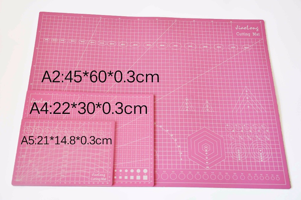 A2 Pink Pvc Cutting Mat Self-healing Cutting Mat Patchwork Tools Craft Cutting Board Cutting Mats For Quilting