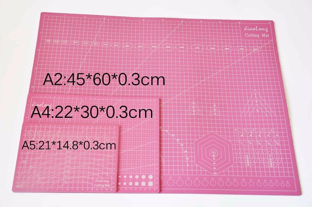 A2 Pink Pvc Cutting Mat Self-healing Cutting Mat Patchwork Tools Craft Cutting Board Cutting Mats For Quilting