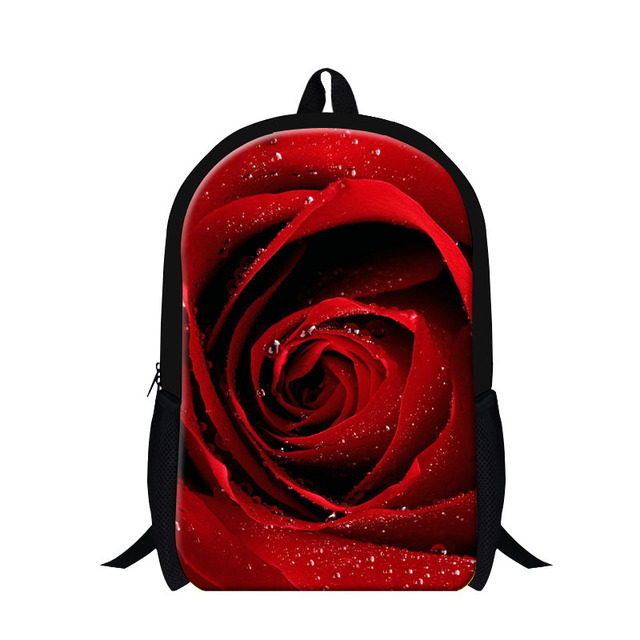 Dispalang Women Rose Pattern Backpacks Mochila Girls Rucksack Flower Print  Casual School Bags For Teenagers Kids Travel Bag 103da5e53e672