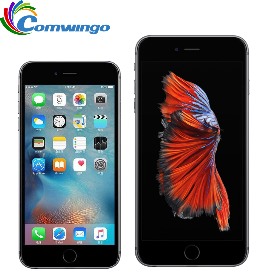 Original Desbloqueado Apple iphone 6S & 6s Plus Dual Core 2GB RAM 16/64/128GB ROM 4.7 ''Câmera 12.0MP A9 iphone 4 6s G LTE cell phone