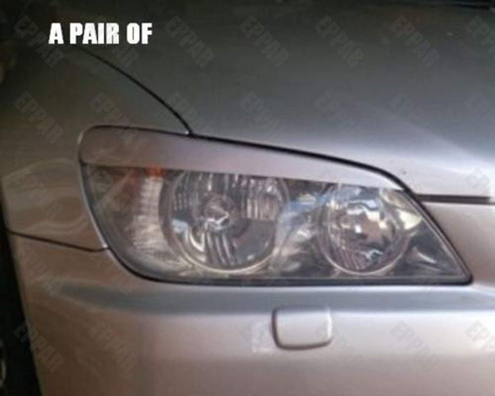 Unpainted Fiberglass Headlight Eyelids Eyebrows for 1998-2005 Lexus IS200 IS300 <font><b>RS200</b></font> Altezza image
