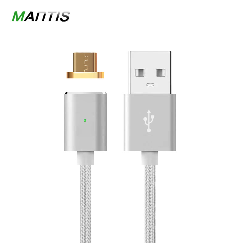 Magnetic Cable Mantis 2.4A Micro USB Data Charger 1M Nylon Metal Magnetic Fast Charging Android Cable For Xiaomi Huawei Samsung usb