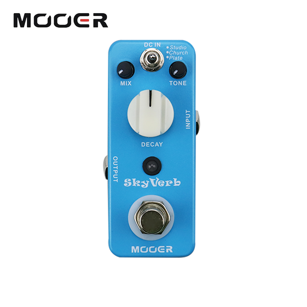 Mooer Full Metal Shell Effects Skyverb High Quality Digital Electric Guitar Effect Pedal With 3 Reverb Modes True Bypass sews aroma aov 3 ocean verb digital reverb electric guitar effect pedal mini single effect with true bypass