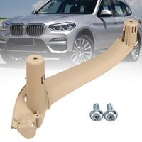 Beige Car Right/Left Interior Door Handles Door Handle Inner Part Trim Cover For BMW F25 F26 X3 X4 Handle Inner Part Trim Cover