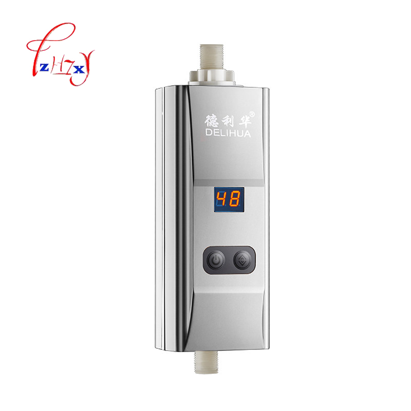 Home Use Instant Tankless Electric Water Heater Faucet Shower Bath Heater Bottom Water Flow Inlet Water Heater 1pc