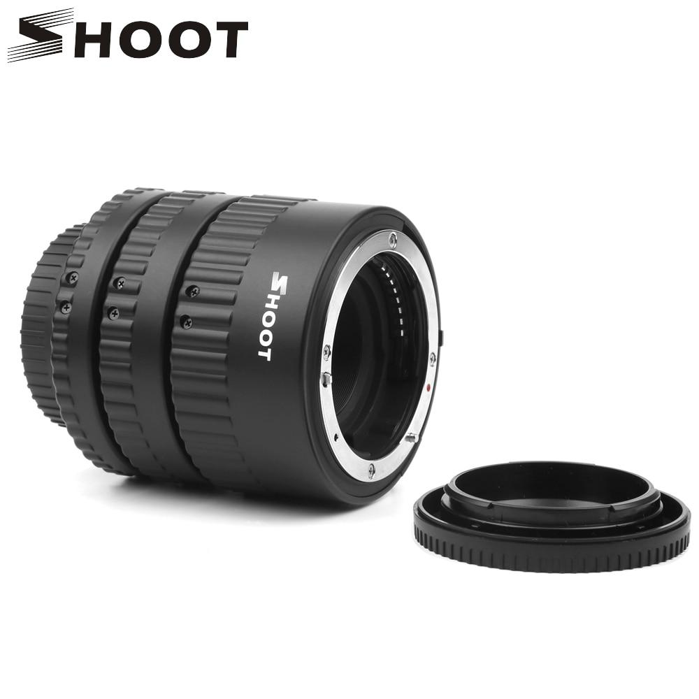 SHOOT 12mm 20mm 36mm Plastic Auto Focus N-AF Macro Extension Tube Set Metal Mount For Nikon D7100 D5100 Black Digital SLR Camera
