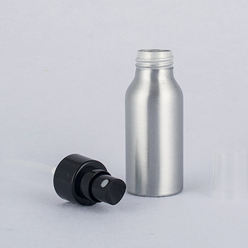 120ml empty perfume bottle Smooth surface pump lid, Refillable aluminum spray bottle for cosmetic container
