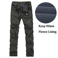 Men Plus Size 4XL 5XL 6XL 7XL 8XL 9XL Winter Pant Sport Fleece Lined Softshell Warm Outdoor Climbing Snow Soft shell Pant