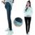 Preto Cinza Leggings Maternidade para o Inverno Quente Calças Gravidez Roupas para Mulheres Grávidas Plus Size Maternidade Legging M-XXL