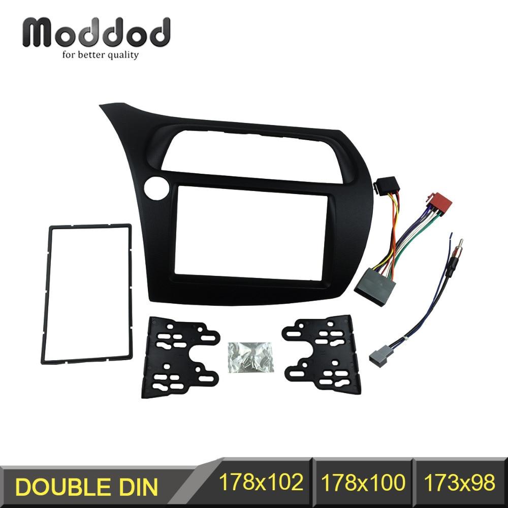 Doppel-din-fascia für Honda Civic Radio DVD Stereo Dash Montage ...