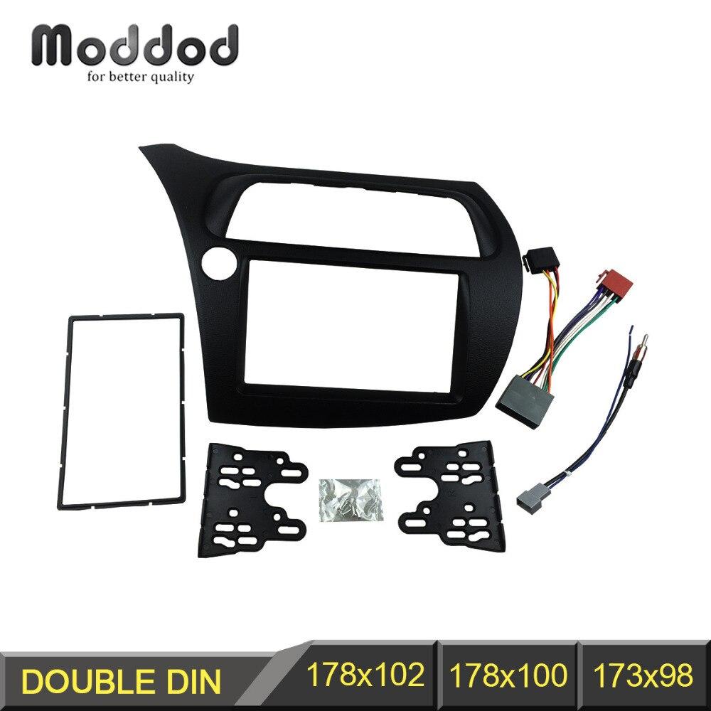 Double Din Fascia for Honda Civic Radio DVD Stereo Panel Dash - Bildeler