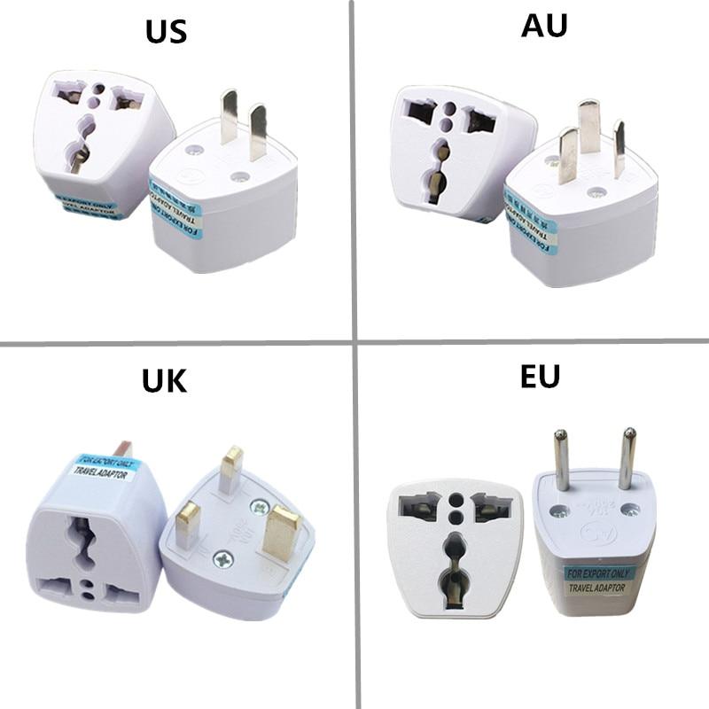 Adapter Converter Uk Us Au Eu Ac Power Socket Travel Universal Plug Charger New