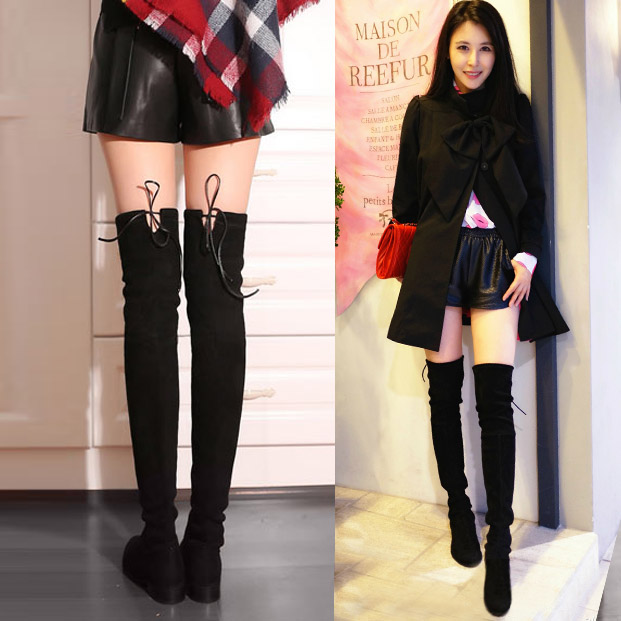 Over the knee boots flat tall boots
