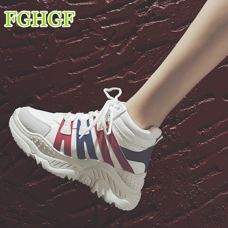 Women Platform Flats Shoes Patent Leather Sneakers Lace Up Female Mesh Footwear Shoes for Women Sports