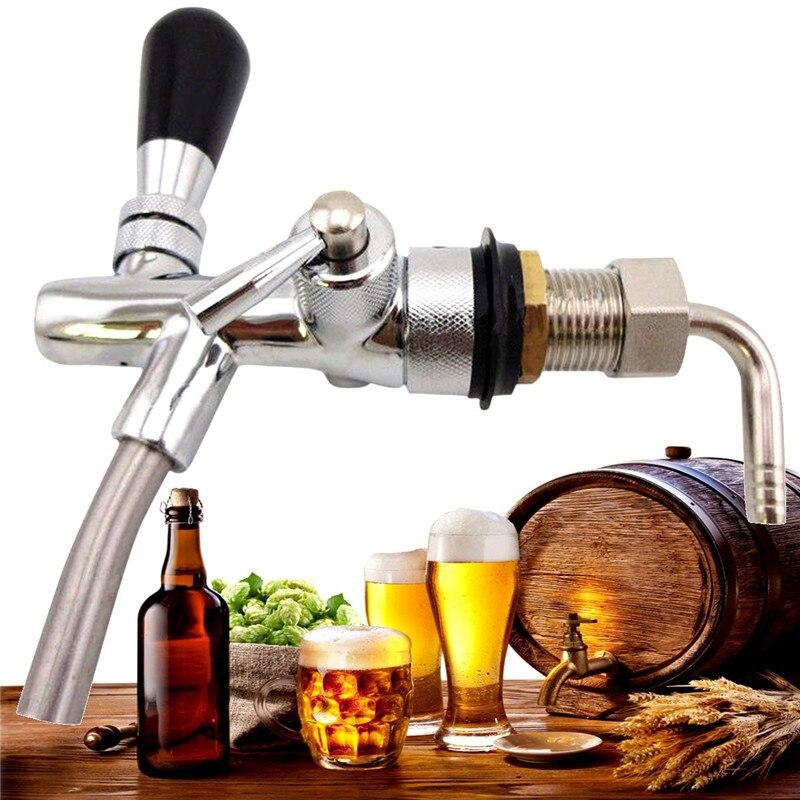 Ajustável G5/8 Projecto de Haste Cerveja Kegerator Torneira com o Fluxo de Controlador Cromo Torneira Kit Home Brew Beer Wine Ferramenta de tomada de