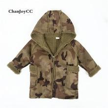 Brand ChanJoyCC  Autumn Winter New Design Children's Coat Kid Boys Long Sleeve Fashion Camouflage Deer Lint  Woolen Jacket